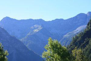 Blick auf die Ammergauer Alpen vom Plansee